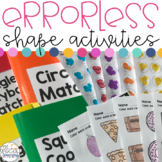 Errorless Shape File Folders and Worksheets for Special Education