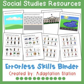 Errorless Skills Binder: Social Studies