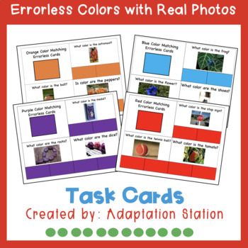 Errorless Task Cards: Real Photos with Task Cards (Growing Products)