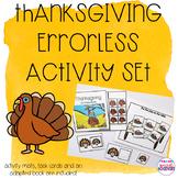 Errorless Thanksgiving Activity Set