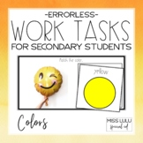 Errorless Work Tasks for Secondary Students {Colors}