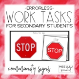 Errorless Work Tasks for Secondary Students {Community Signs}