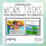 Errorless Work Tasks for Secondary Students {Seasons}