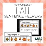 Errorless Writing Sentence Helpers {Fall Themed}