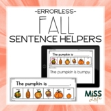 Errorless Writing Sentence Helpers {Fall Themed}