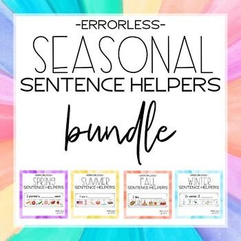 Errorless Writing Sentence Helpers {Seasonal BUNDLE}