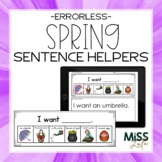 Errorless Writing Sentence Helpers {Spring Theme}