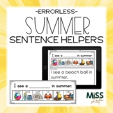 Errorless Writing Sentence Helpers {Summer Theme}