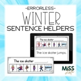 Errorless Writing Sentence Helpers {Winter Theme}