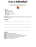 Erupting Pumpkin Science Experiment Recording Sheet