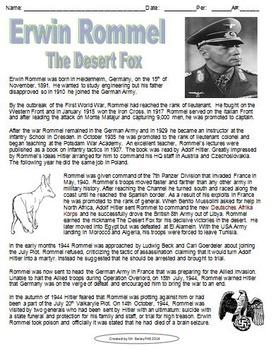 Erwin Rommel The Desert Fox Biography