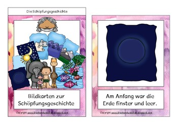 Erzählkarten: Die Schöpfungsgeschichte - Story Cards 7 days of creation