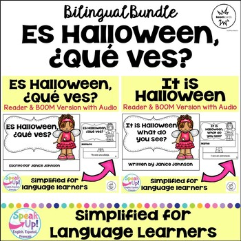 Es Halloween. ¿Qué ves? ~ It is Halloween Costume Reader & Cut/Paste {Bilingual}