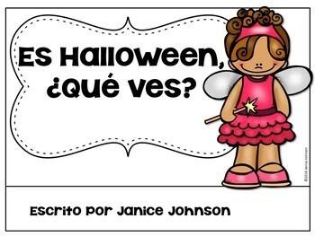 Es Halloween. ¿Qué ves? ~ It is Halloween Costume Reader & Cut/Paste {Bilingual}