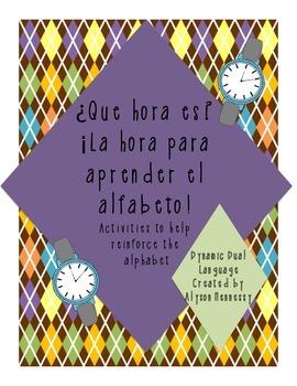 Es la hora para aprender el alfabeto-ALPHABET WATCH FREEBIE