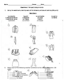 Esamino: Il Tempo/L'abbigliamento