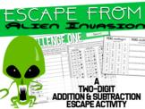 Escape Aliens - 2-Digit Addition & Subtraction Escape Challenge