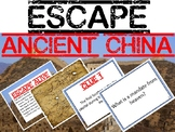Escape Ancient China Review Task Card Game Activity