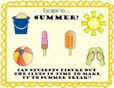 Escape Breakout Room to Summer! Last Day of School Activity, No Prep!