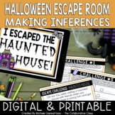 Halloween Escape Room: Making Inferences | Print & Digital