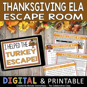 Escape Challenge: Save the Turkey! {Thanksgiving Activity}