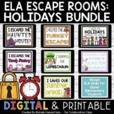 ELA Escape Room: Holiday Bundle w/ End of the Year Escape