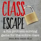 Class Escape Problem Solving Game