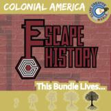 Escape Colonial American History -- Escape the Room Social Studies Games