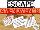 Escape Constitution Amendments Review Task Card Game Activity