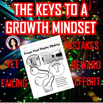 Growth Mindset Escape Room Challenge Escape Fixed Mindset Game Activity