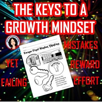 Growth Mindset Activity Escape Room Challenge Escape Fixed Mindset Game