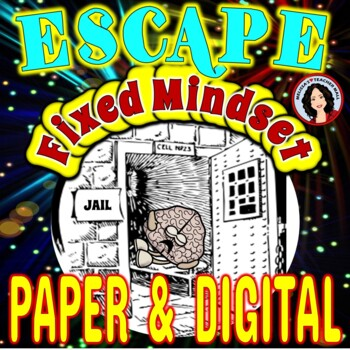 Growth Mindset Escape Room Activity Escape Fixed Mindset Game Back to School FUN