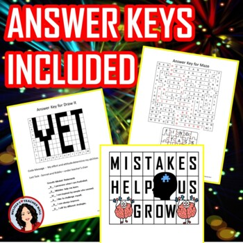 Growth Mindset Escape Room Activity Escape Fixed Mindset Game Back to School