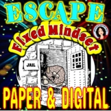 **Growth Mindset Escape Room Activity Game Back to School Digital & Paper