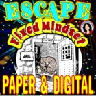 Escape Room Challenge Growth Mindset Game Activity, Fixed Mindset Escape Room