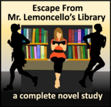 Escape From Mr. Lemoncello's Library - a complete novel study
