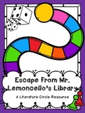 Escape From Mr. Lemoncello's Library Literature Circle Resource