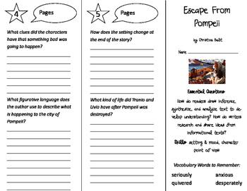 Escape From Pompeii Trifold - ReadyGen 4th Grade Unit 3 Module B