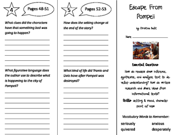 Escape From Pompeii Trifold - ReadyGen 4th Grade Unit 3 Module B