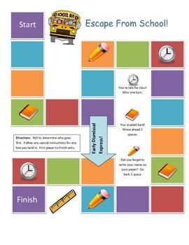 Escape From School Game Board