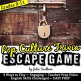 Escape Game Break Out Box Activity, Popular Culture Trivia