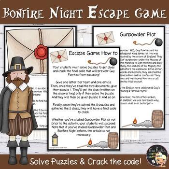 Guy Fawkes Gunpowder Plot Escape Game