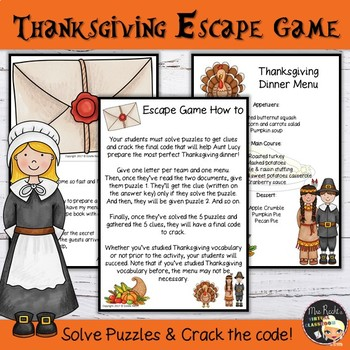 Thanksgiving Activities Escape Room