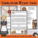 Thanksgiving Activities Escape Game EFL - Level 3