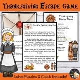 Thanksgiving Activities Escape Room EFL/ESL - Level 3