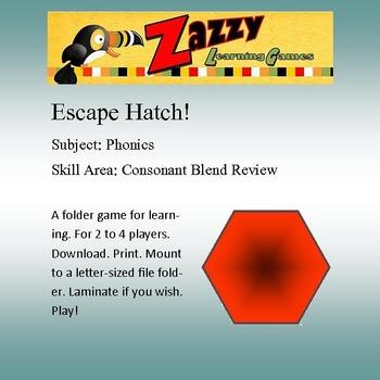 Escape Hatch File Folder Game Phonics Consonant Blends