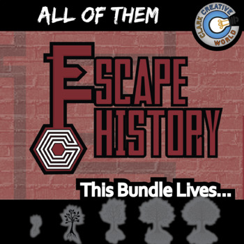 Escape History -- ALL OF THEM -- Escape the Room Social Studies Games