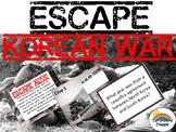 Escape Korean War Task Card Game Activity