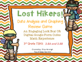 Escape Lock Box Series:Lost Hikers Game 3rd Grade Data Analysis (TEKS 3.8A 3.8B)