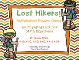 Escape Lock Box Series:Lost Hikers Game: 4th Grade Multiplication (TEKS)